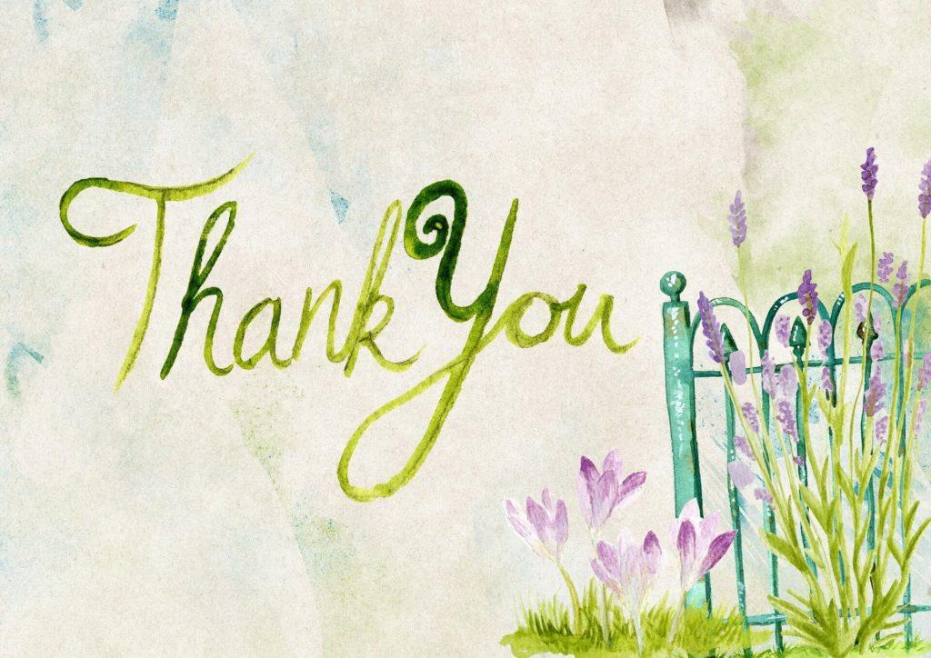 Thankyouと書いてある壁の画像